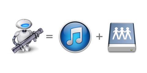 iTunes + 外付HDDマウントをAutomatorで自動化
