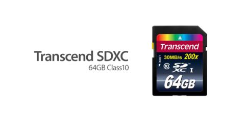 Transcend SDXCカード(64GB・Class10)