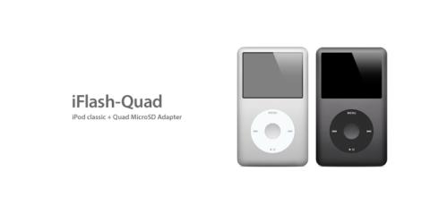 iPod classicのHDDをiFlash Quadに換装